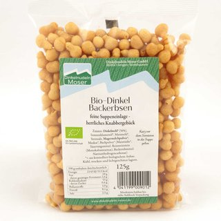 Bio Dinkel Backerbsen - 125g